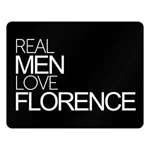 Idakoos Real men love Florence - US Cities - Plastic Acrylic