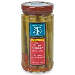 Tillen Farms - Crispy Pickled Asparagus, Hot & Spicy - 12 oz (Pack of 6)