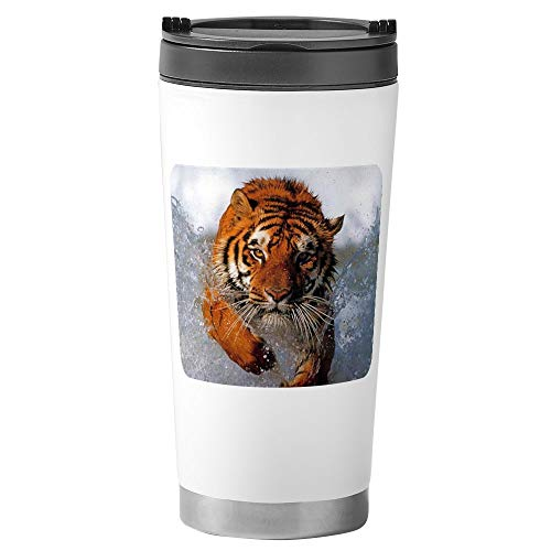 Stainless Steel Travel Drink Mug Bengal Tiger Splash