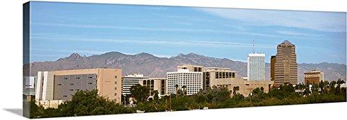Canvas On Demand Premium Thick-Wrap Canvas Wall Art Print entitled Tucson AZ - Skyline Az Tucson