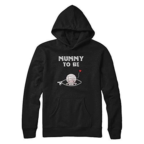 TeesPass Cute Baby Mummy to Be Pregnant Halloween Costume Shirt Hoodie (Black, XL) ()