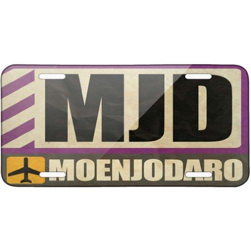 metal-license-plate-airportcode-mjd-moenjodaro-neonblond