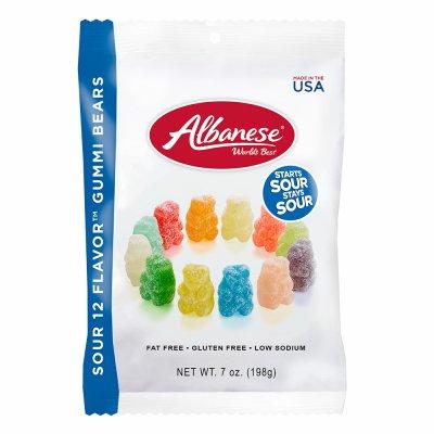 Albanese 12 Sour Flavors Gummy Bears 7 oz.