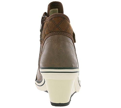 ESPRIT Damen Sneaker LEXA WEDGE mit Keilabsatz braun oder schwarz Gr. 36 - 41 Braun