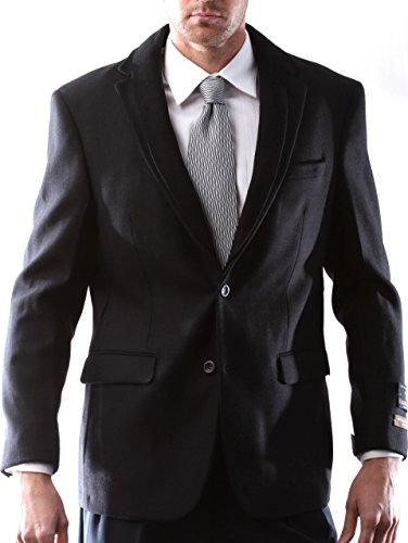 [해외]Prontomoda Europa Men`s Lamb`s Wool Black Sport Coat / Prontomoda Europa, Men`s Lamb`s Wool Black Sport Coat Size Long 44