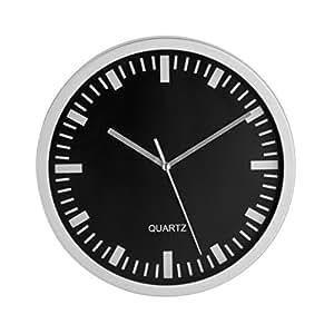 Premier Housewares - Reloj de pared (25 cm), color plateado
