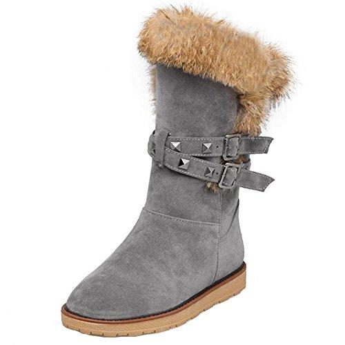 Warm Taoffen On Gray Boots Pull Women's xqaTaw0CS