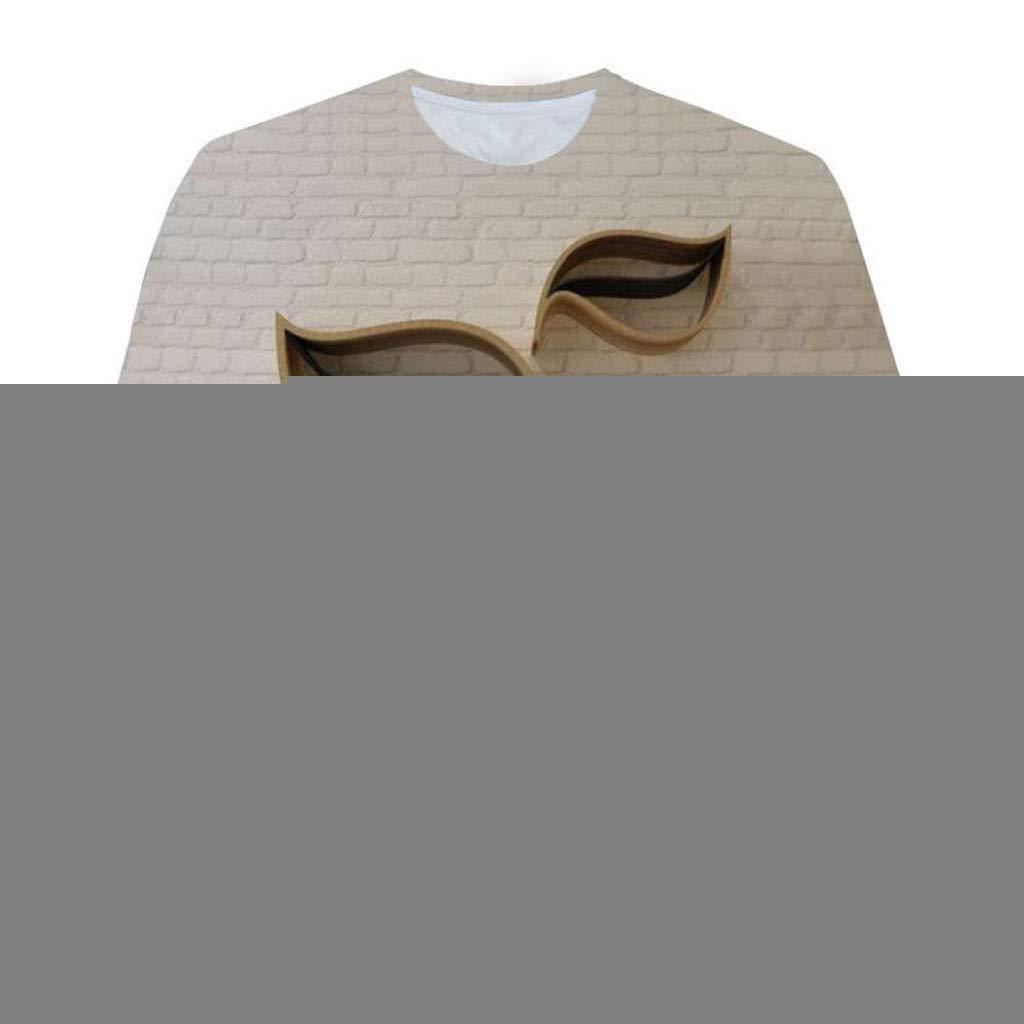 Men's Fashion 3D Printed Short-Sleeved T-Shirt Top Blouse Short Sleeve Fit Pollover Shirt