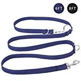 Easy-Tang Hands Free Dog Leash - Double Ended Leash, Multifunctional Dog Training Leads, 6 Ways in One Nylon Leash for Puppy,Small and Large Dogs