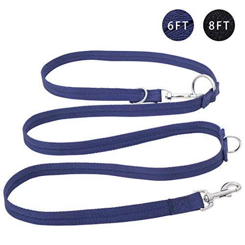 Easy-Tang Hands Free Dog Leash - Double Ended Leash, Multifunctional Dog Training Leads, 6 Ways in One Nylon Leash for Puppy, Small and Medium Dogs