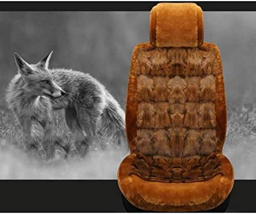 DSFGHE High-Grade Real Fox Free Tied Jaguar XEL Xfl E-PACE Special Hair Seat Cover in Winter Fur Car Seat Cushion Cover,Yellow