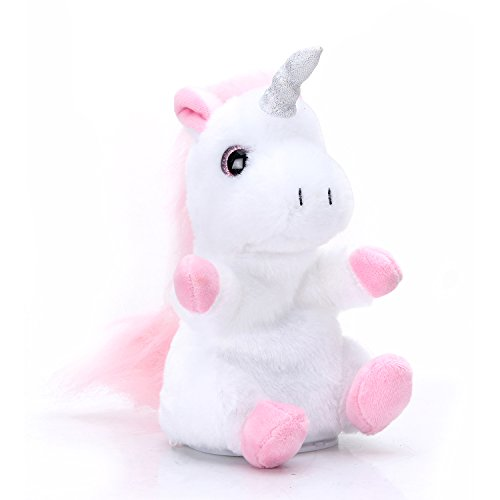 Woodyotime Mimicry Pet Talking Back Unicorn Toys Repeats What You Say Electronic Pet Plush Toys for Boys and Girls and Birthday Present -