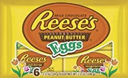 Reese\'s Peanut Butter Eggs 1.2 oz 6-pack (2 Packages)