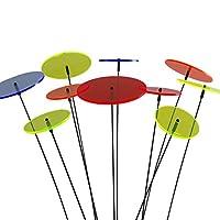 SUNPLAY Sonnenfänger-Scheiben im FARBMIX, 10 Stück im Set, 5 Stück à 7 cm und...