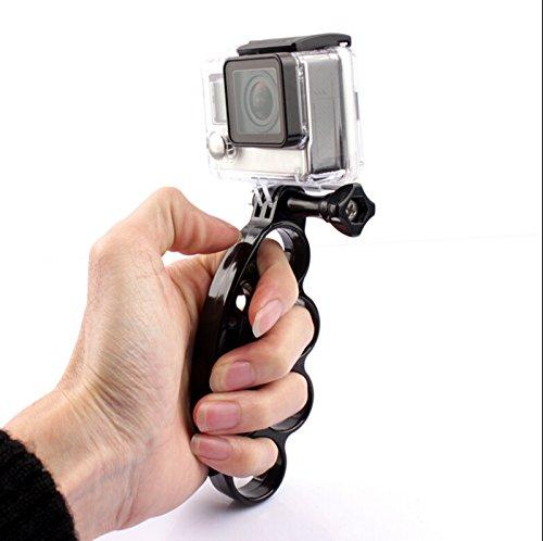 Shoot Handheld Knuckles Fingers Grip with Thumb Screw for GoPro Hero 4 Hero 3+ Hero 3 Hero 2 Black