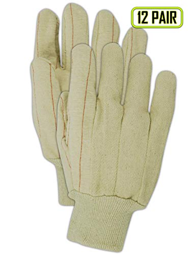 Magid MultiMaster 94KNO Double Palm Canvas Gloves w/Knit Wrist ()