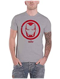 Avengers Infinity War T Shirt Iron Man Icon New Official Marvel Mens Grey