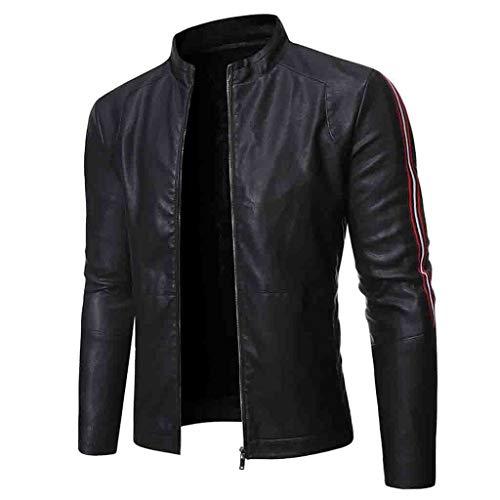 Men Leather Jacket, Beautyfine Autumn Winter Biker Motorcycle Zipper Casual Outwear Coat (Unicorn Men Leather Jacket)