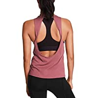 Mippo Womens Activewear Sexy Open Back Yoga Shirt Workout Clothes Sports Gym Tank Tops