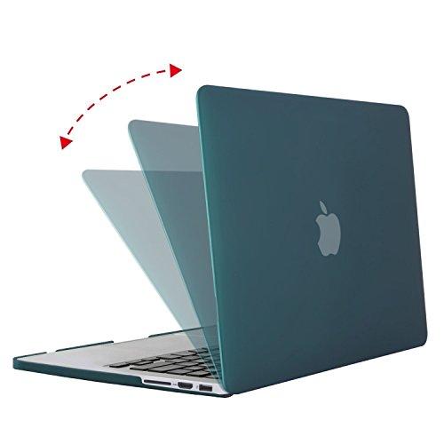 MOSISO Ultra Delgado Plástico Dura Funda Rígida Caso para MacBook Pro 13 Pulgadas con Pantalla Retina sin CD-Rom (A1502 / A1425, Versión 2015/2014/2013/fin 2012), Cuarzo Rosa Teal Profundo