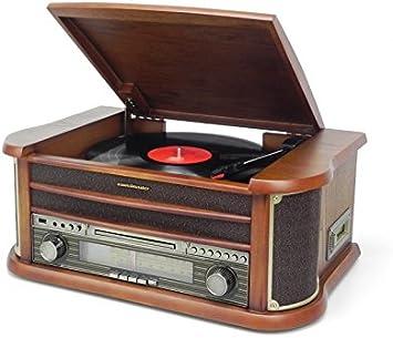 Soundmaster NR540 tocadisco - Tocadiscos (3,5 mm, Madera, 500 ...