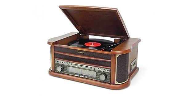 Soundmaster NR540 tocadisco - Tocadiscos (3,5 mm, Madera, 500 x ...