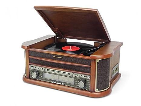 Soundmaster NR540 tocadisco - Tocadiscos (3,5 mm, Madera, 500 x 340 x 210 mm, LCD)