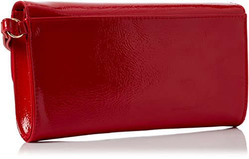 Dorothy Perkins Damen Red Patent Clutch, Rot (Red), 22 x 12 x 2.5 cm