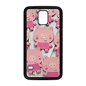 Cartoon pig DIY Cover Case with Hard Shell Protection for SamSung Galaxy S5 I9600 Case lxa#973643