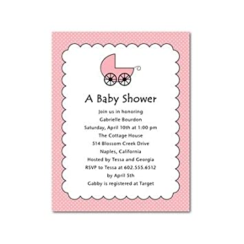 Amazon baby shower invitations scalloped stroller rose by baby shower invitations scalloped stroller rose by sb hello little one filmwisefo