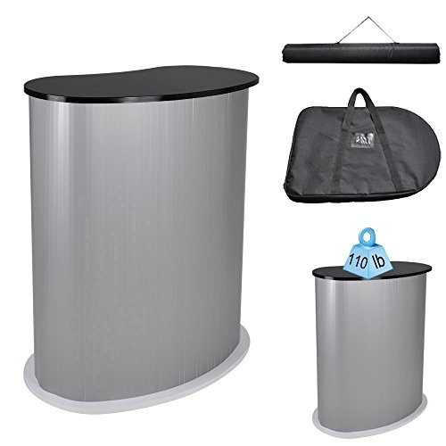 Yescom Portable Trade Show Podium Table Display Exhibition Counter Stand w/Black Top Carrying Bag