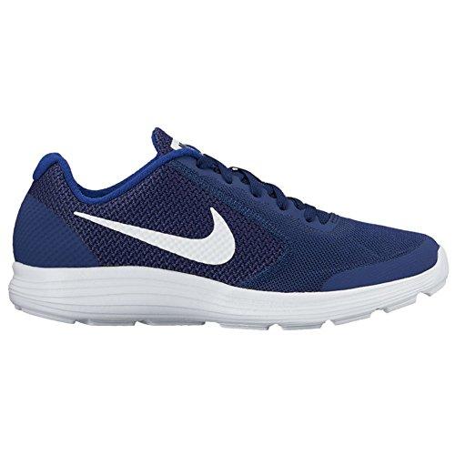 Nike Barn Revolusjon 3 (gs) Løpesko Binær Blå / Hvit / Dyp Kongeblå