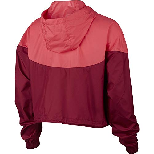 Nike Womens Heritage Windrunner Track Jacket Team Red/Ember Glow/White AR2511-677 Size X-Small by Nike (Image #1)