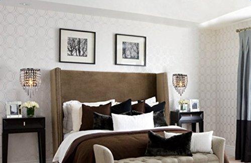 Glighone applique da parete di cristallo moderno lampada da parete