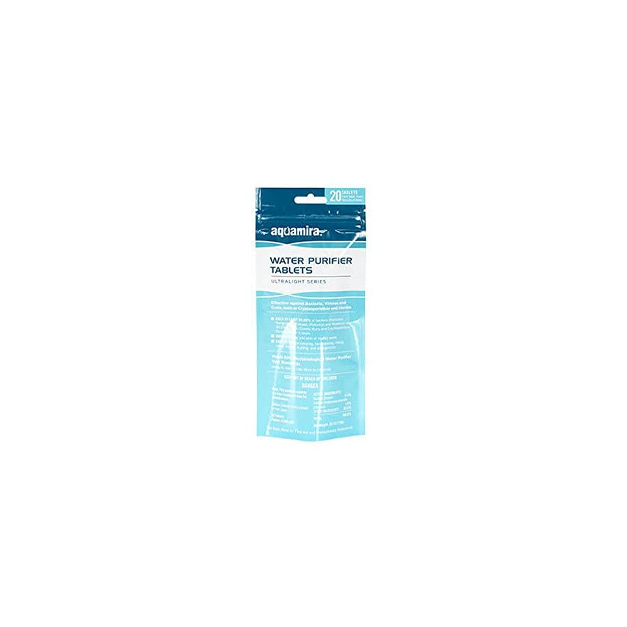 Aquamira 67407 Water Purification Tablets 20 Count