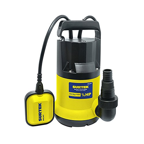 Surtek BSL507 Bomba Sumergible para Agua Limpia, Potencia de 3/4 Hp, 4,2 kg