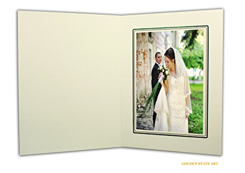 Golden State Art, Cardboard Photo Folder For a 5x7 Photo (Pack of 50) GS001 Ivory Color