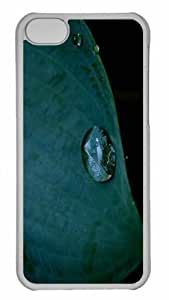 Customized iphone 5C PC Transparent Case - Dewey Leaf Personalized Cover
