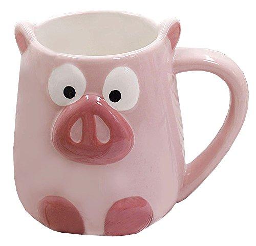imal Handwork Coffee Mug Water Tea Cup - Pig/Panda/Fox/Strawberry/Pineapple/Mermaid ()