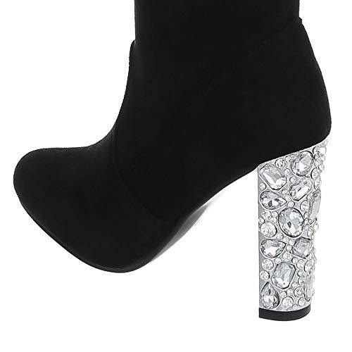 Schwarz Ital Kitten Bottines 0 259 Cuissardes Bottes heel Et Chaussures Femme design FwxqOzFH
