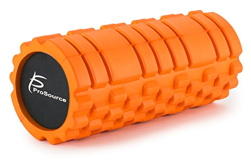 "ProSource Sports Medicine Foam Roller 33 cm x 15 cm (13"" x 6"") with Grid for Deep-Tissue Massage and Trigger-Point Muscle Therapy, Orange"