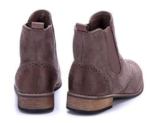 Schuhtempel24 Damen Schuhe Klassische Stiefeletten Stiefel Boots Blockabsatz 3 cm Khaki
