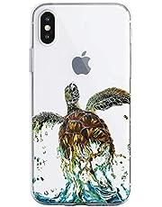 Oihxse Funda para iPhone 7 Plus/iPhone 8 Plus Transparente, Estuche con iPhone 7 Plus/iPhone 8 Plus Ultra-Delgado Silicona TPU Suave Protectora Carcasa Océano Animal Serie Bumper (C10)