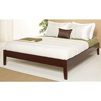 modus furniture sp18f5 newport simple platform bed queen cordovan