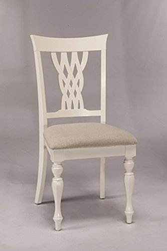 Hillsdale Furniture Wooden Dining Chair in White Finish - Set of 2