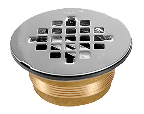 Oatey 42150 NC Brass NO-CALK Shower Drain with Stainless Steel, 2 Inch,