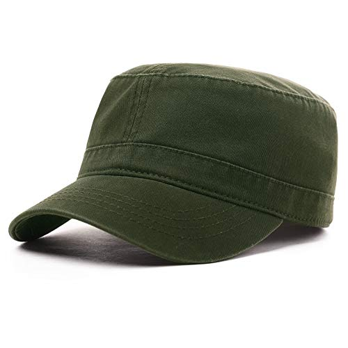 Adjustable Dad Military Hat Army Cadet Combat Mens Womens Field Radar Baseball Cap Outdoor Hiking Hunting Olive Green