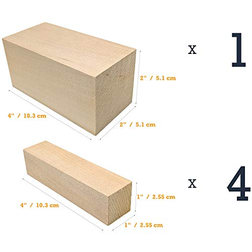 Beginner's Premium Carving Blocks Wood Kids Wood Block - USA