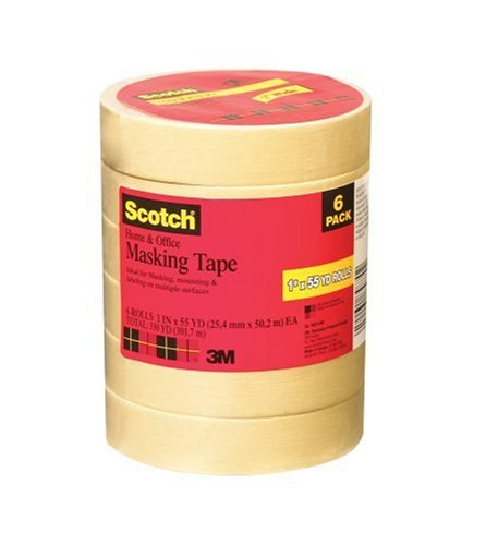 Scotch Home and Office Tape 6-Pack, .94 in x 54.6 yd, 6 Rolls (3437-6) by Scotch