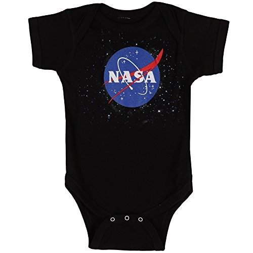 NASA Logo Baby Romper Snapsuit - Black (0-6 months)